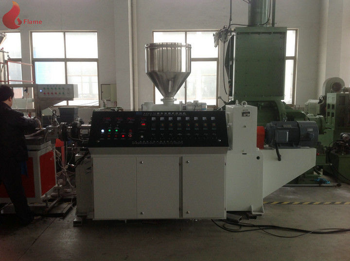 Good plasticizing Two screw WPC Extrusion Line for PE & PP window profile