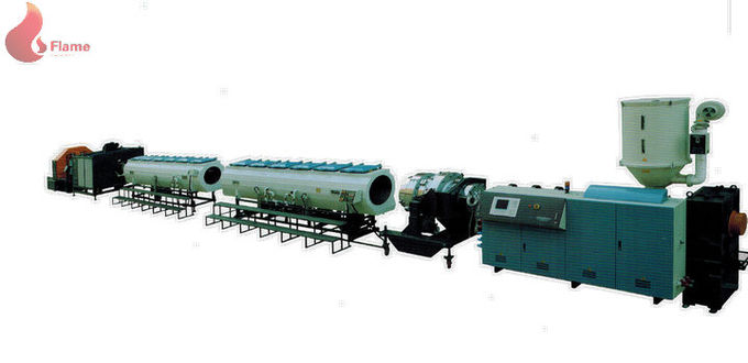 PLC PE / PP / PEX / ABS High Speed Pipe Extrusion Line Siingle Screw